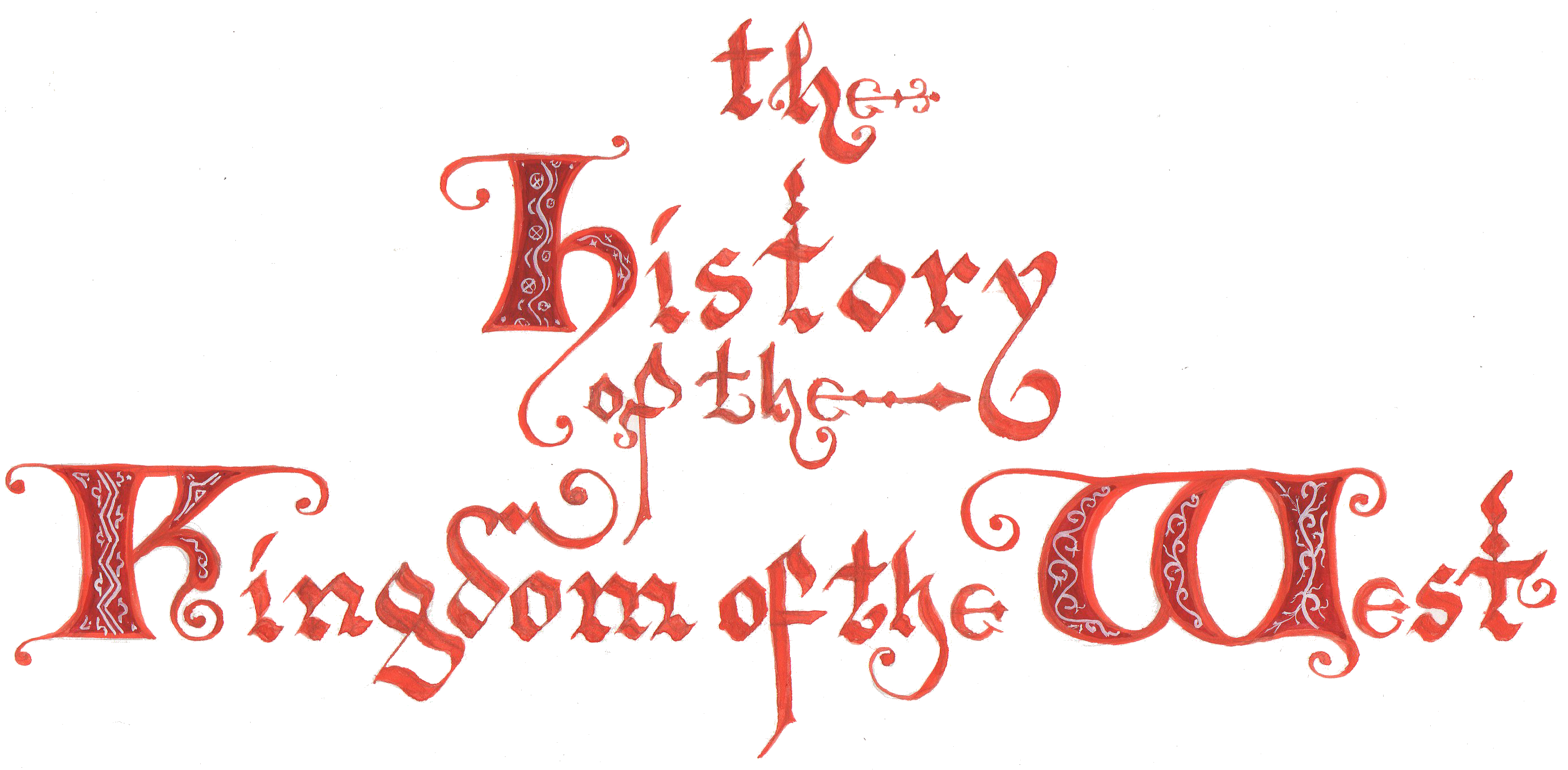 Calligraphy by Robin of Thornwo